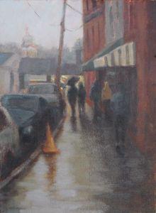 Annapolis Rain 9 x 12 Oil on Panel