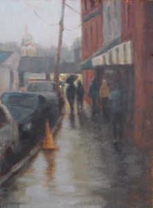 Annapolis Rain 9 x 12 Oil on Panel