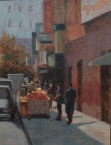 Chinatown Morning 9 x 12 Oil