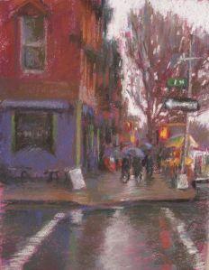 East Village Rain Pastel 9 x 12