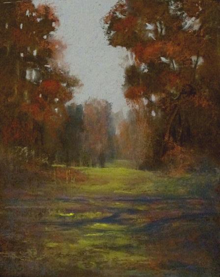 The Saratoga Sand Plains, 8x10 oil pastel
